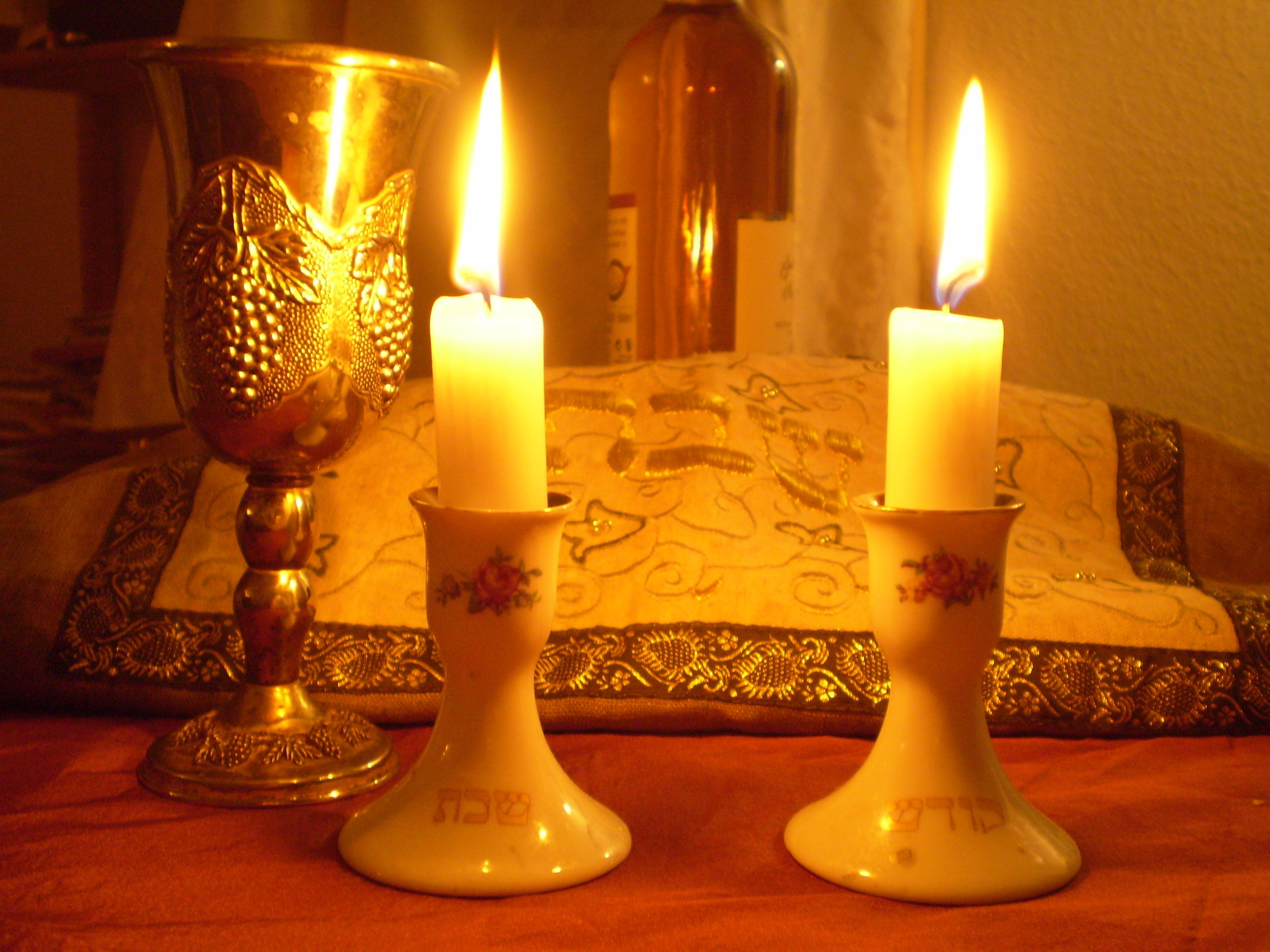 """Shabbat Candles"" by Olaf.herfurth - Own work. Licensed under CC BY-SA 3.0 via Wikimedia Commons -"
